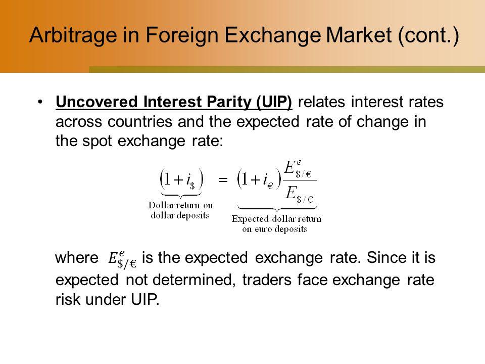 exchange rate arbitrage