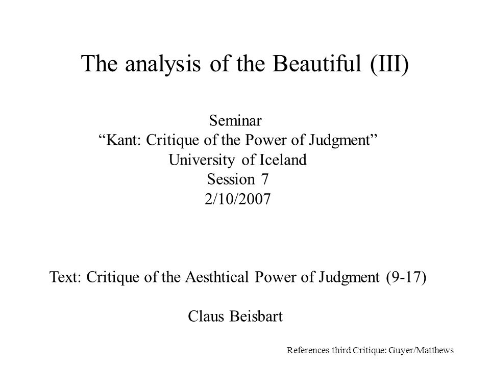 analysis of kant This seminal contribution to kant studies, originally published in 1982, was the first to present a thorough survey and evaluation of kant's theory of mind ameriks focuses on kant's discussion of the paralogisms in the critique of pure reason , and examines how the themes raised there are treated in the rest of kant's writings.