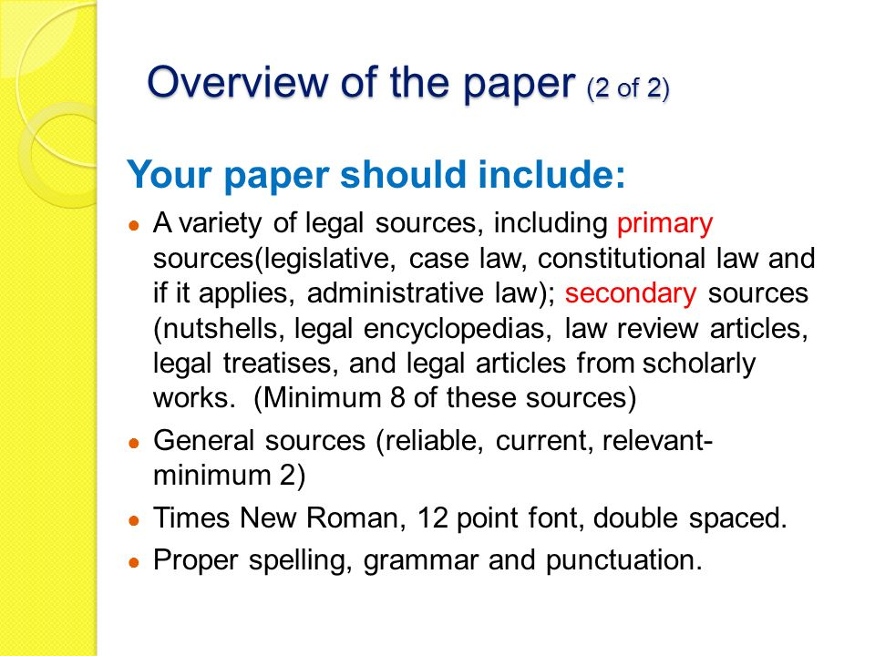 constitutional law research paper topics