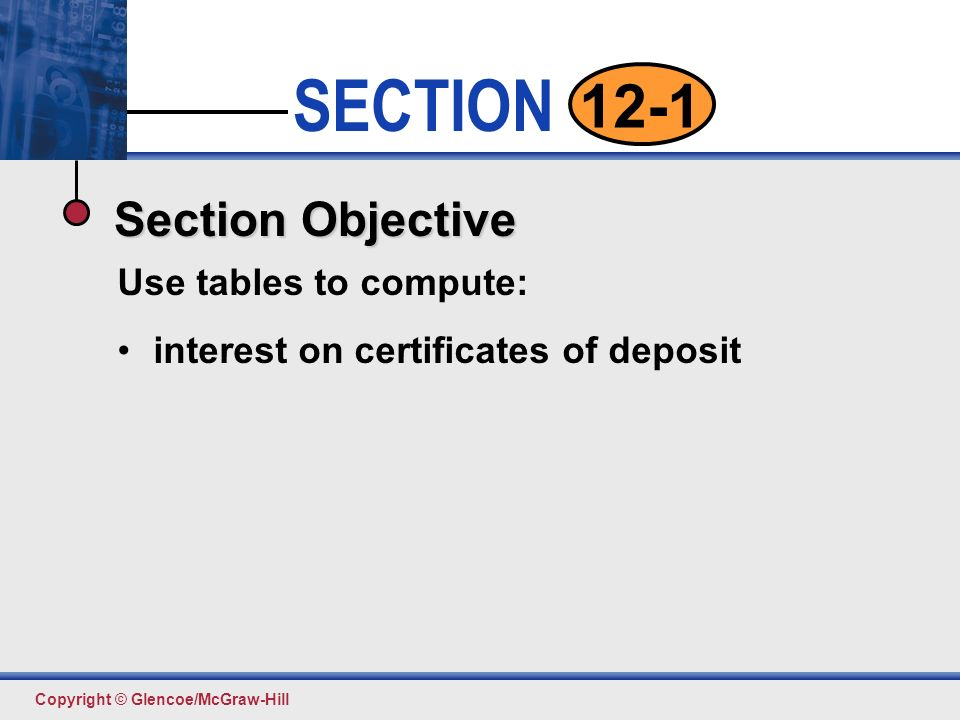 Certificates of Deposit pp SECTION. - ppt download