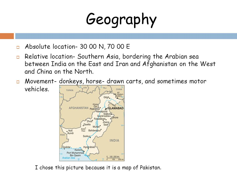 location of pakistan in asia