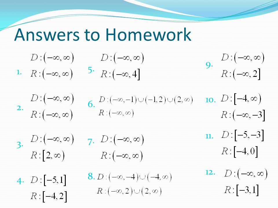 Do Now Find The Domain Range Answers To Homework Ppt Download