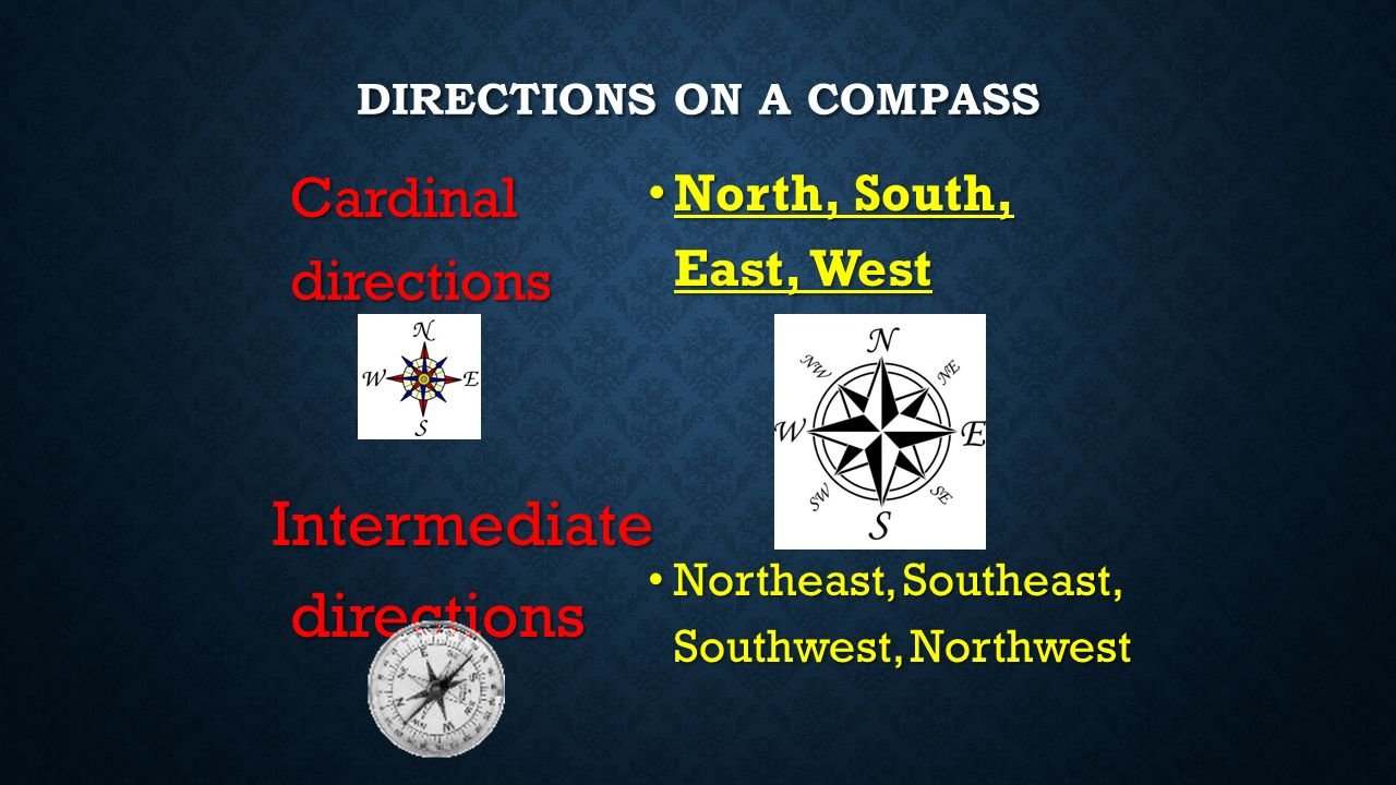 VOCABULARY TERM Compass Is a tool that helps the user know what direction they are going.