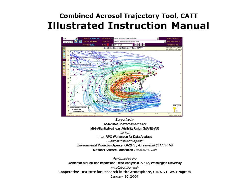 Combined Aerosol Trajectory Tool Catt Illustrated Instruction