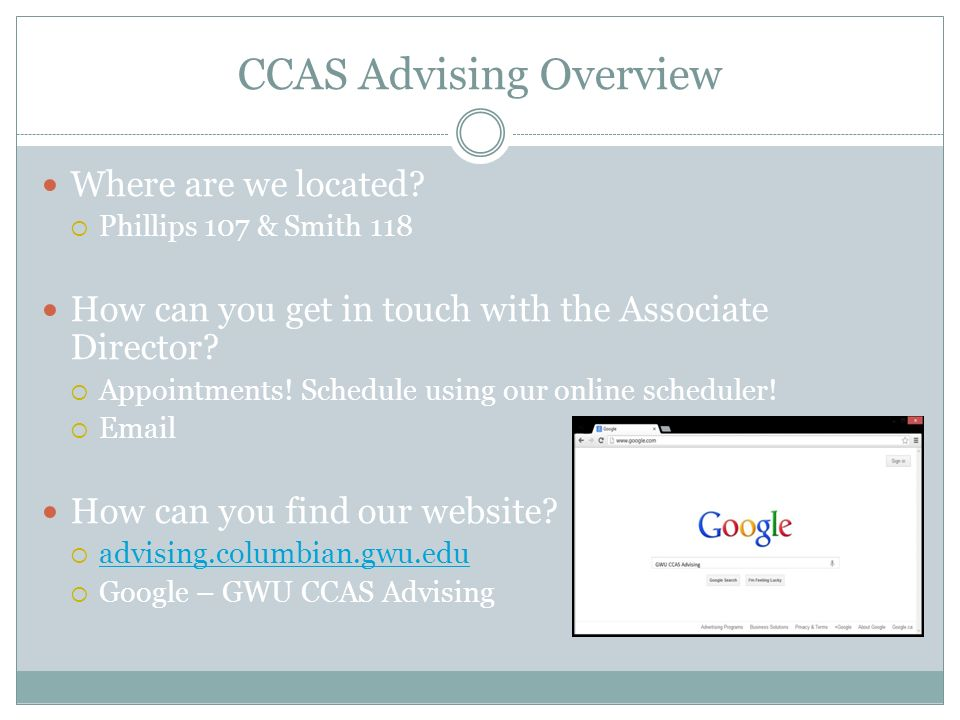 Academic Calendar Gwu.Academic Preparation Powerpoint Ccas Advising Overview Where Are We