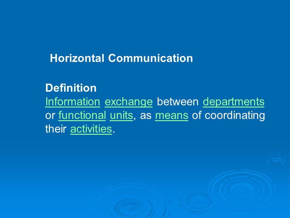 horizontal communication definition
