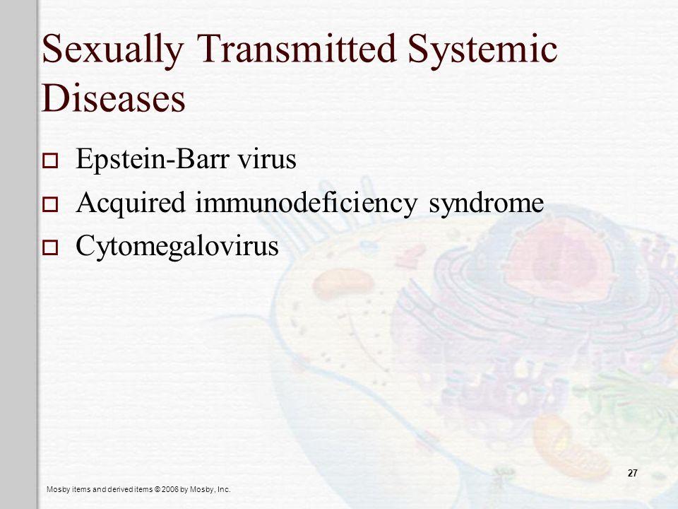 Epstein barr virus sexually transmitted