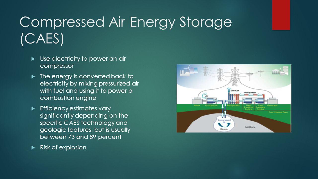 Wind Energy Storage Options Greg Bell Warrington Eggleston Sarah Physics Combustion Engine Diagram 5 Compressed