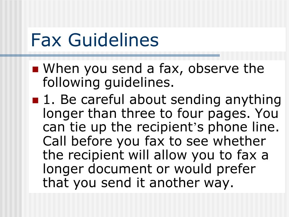 chapter 4 supplement writing fax and faxes when you send a fax be