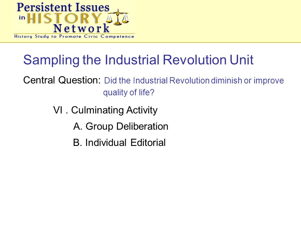 industrial revolution editorial