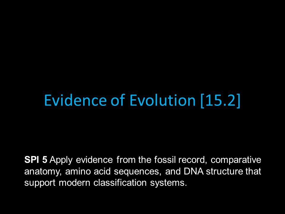 Evidence Of Evolution 152 Spi 5 Apply Evidence From The Fossil