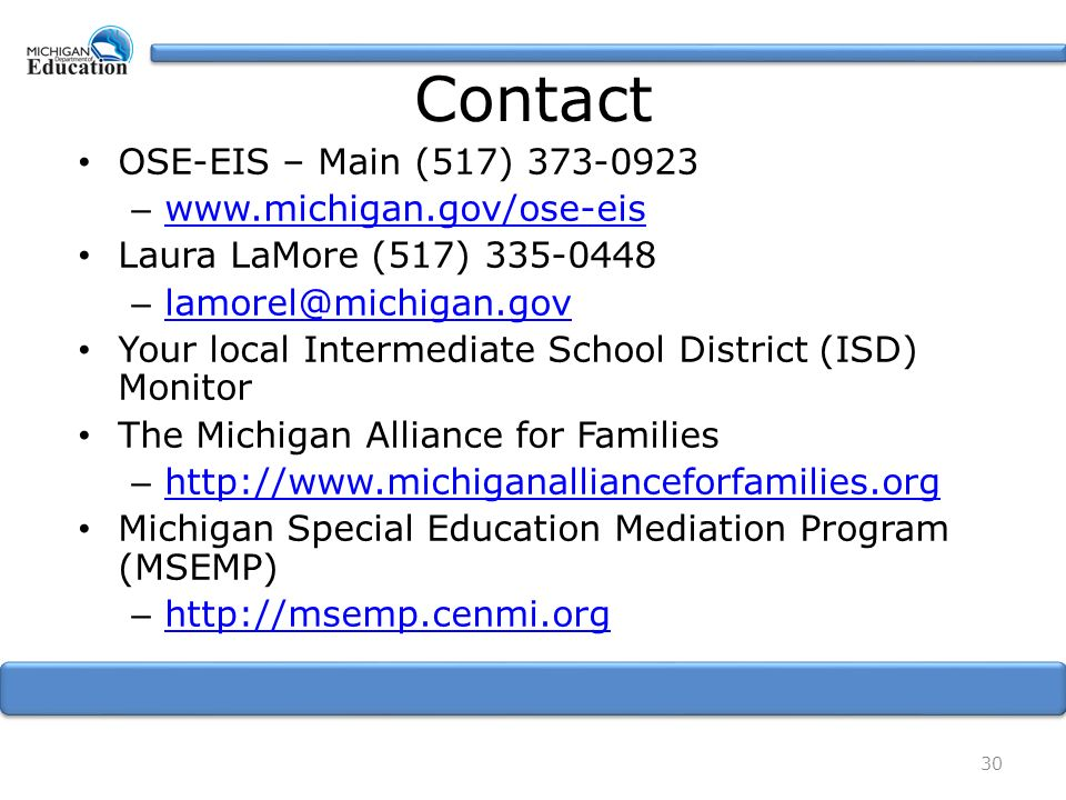 Procedural Safeguards Michigan Alliance For Families >> Notice An Overview Podcast Script Laura Lamore Consultant Ose Eis