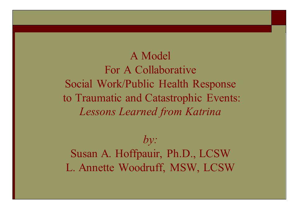 A Model For A Collaborative Social Work/Public Health