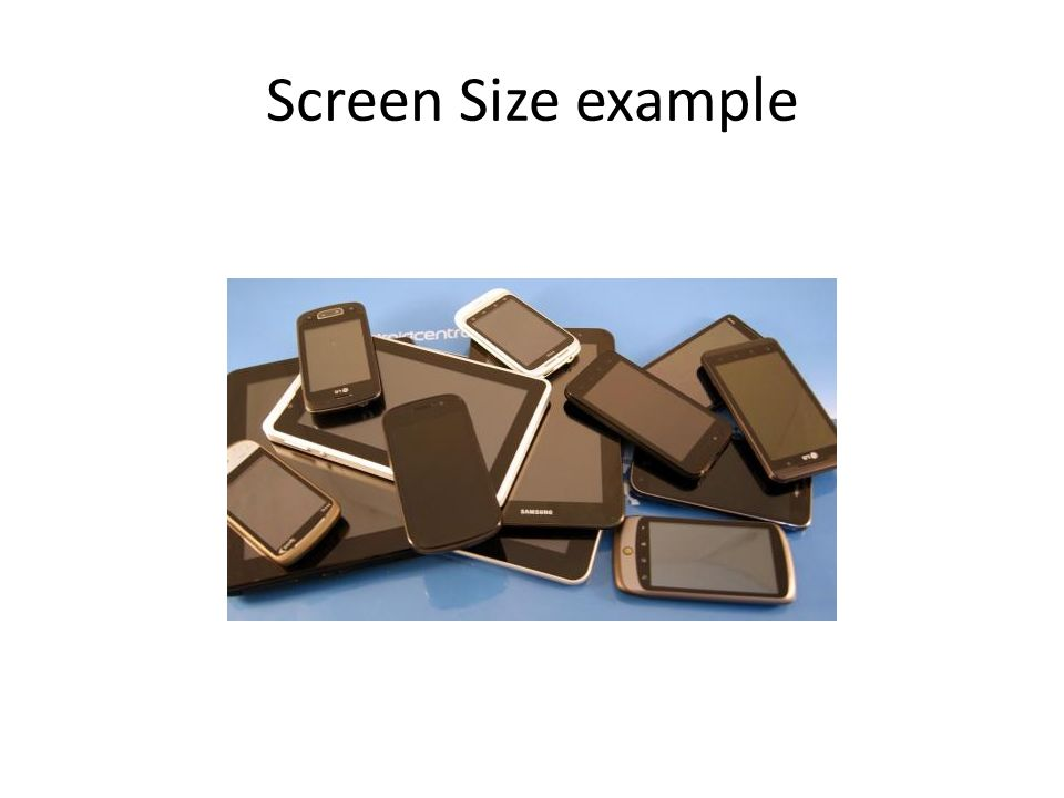 Cosc 5/4730 Android drawing  Screen support Android is the OS and is