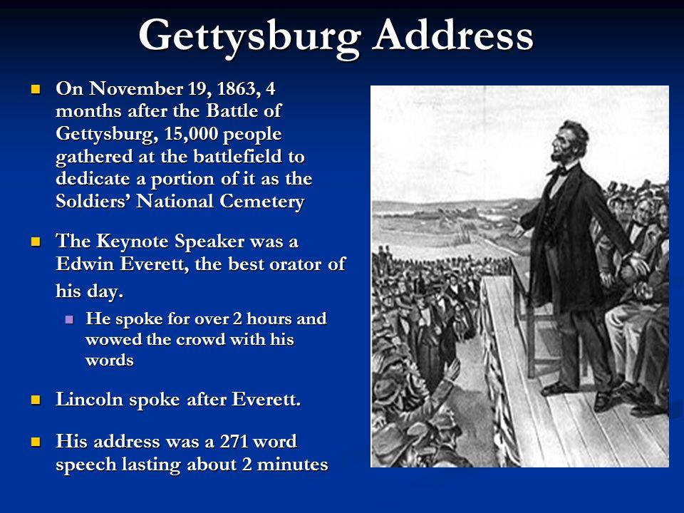 15 000 spectators were in attendance the gettysburg address ppt
