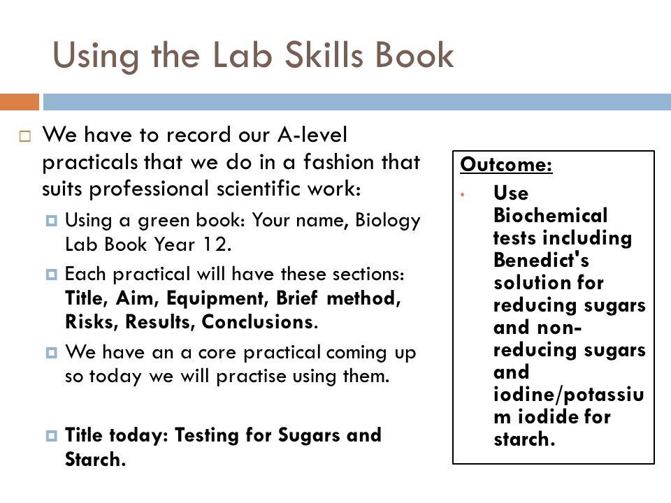 test for reducing sugars method