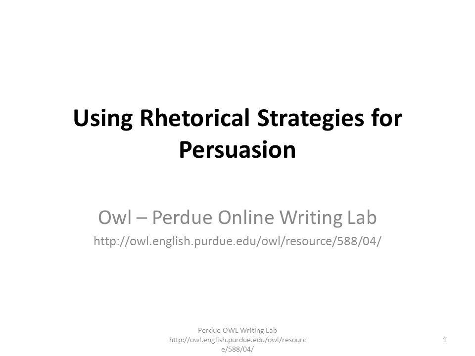 using rhetorical strategies for persuasion