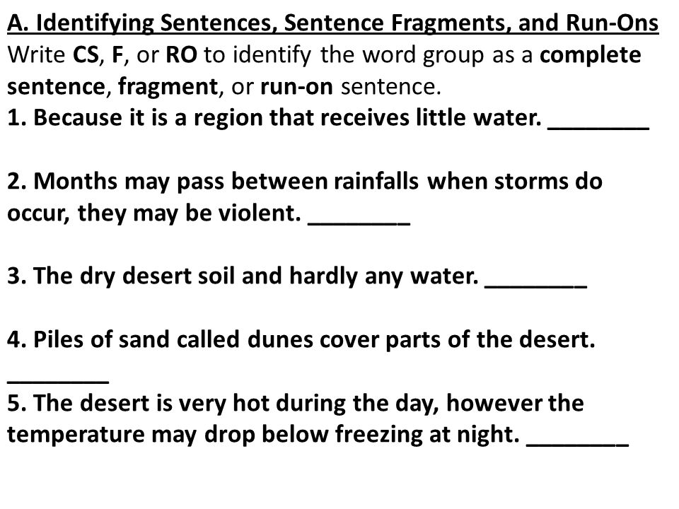Printable Worksheets fragments and run-on sentences worksheets : Image by via SENTENCE FRAGMENTS & RUN-ON SENTENCES HOW TO AVOID ...
