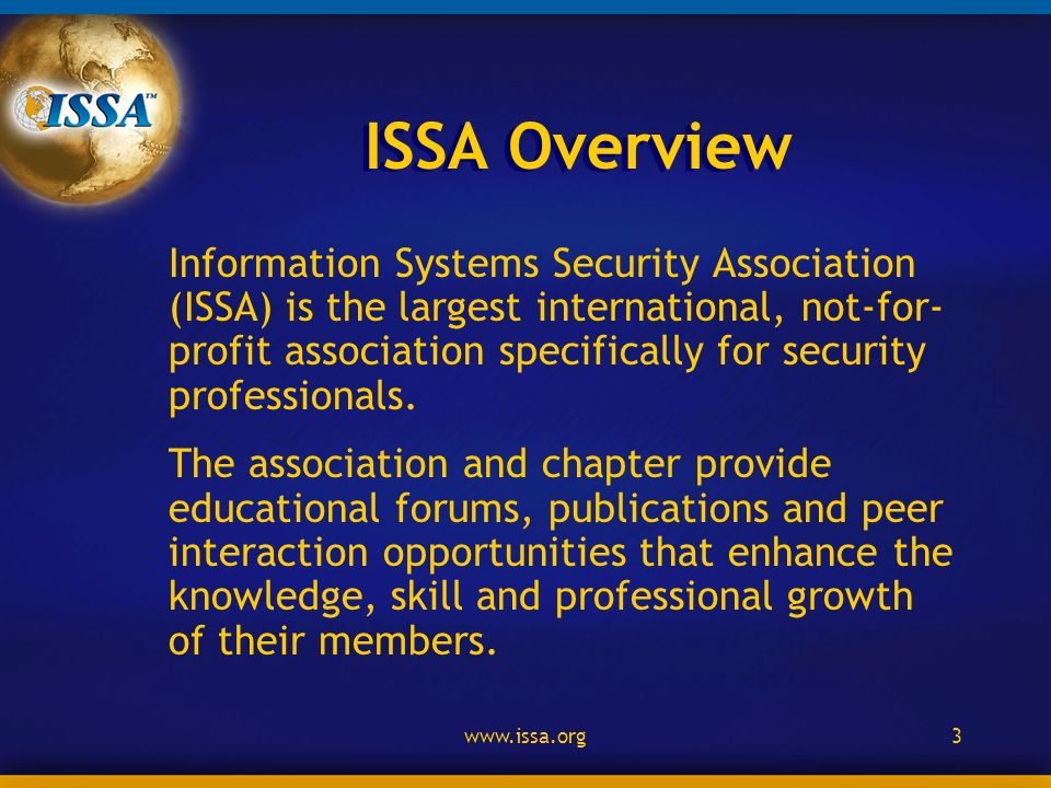 2 Information System Security Association Issa Buffalo Niagara