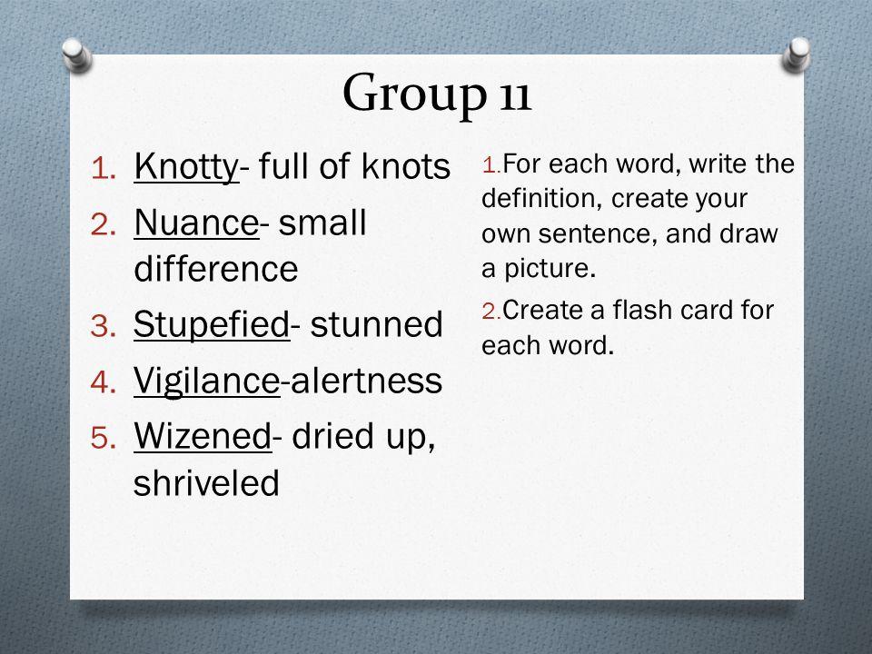 Vocabulary  Group 1 1  Mitigate-lessen the pain 2  Novice