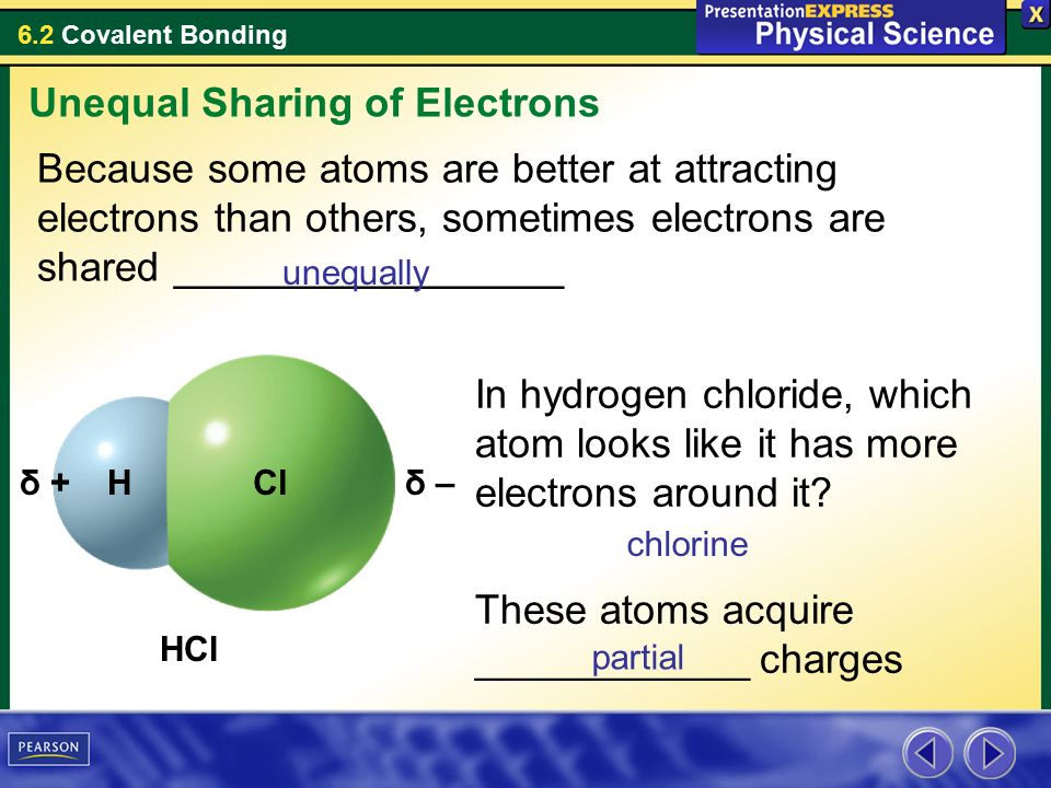 6 2 Covalent Bonding 6 2 Continued Polar Bonds Key Concepts What