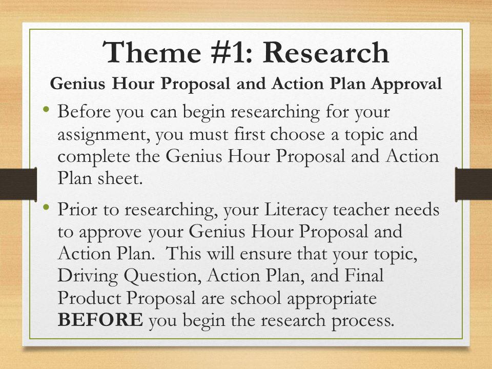 Genius Hour Biweekly Objectives Ss Literacy Genius Hour Biweekly