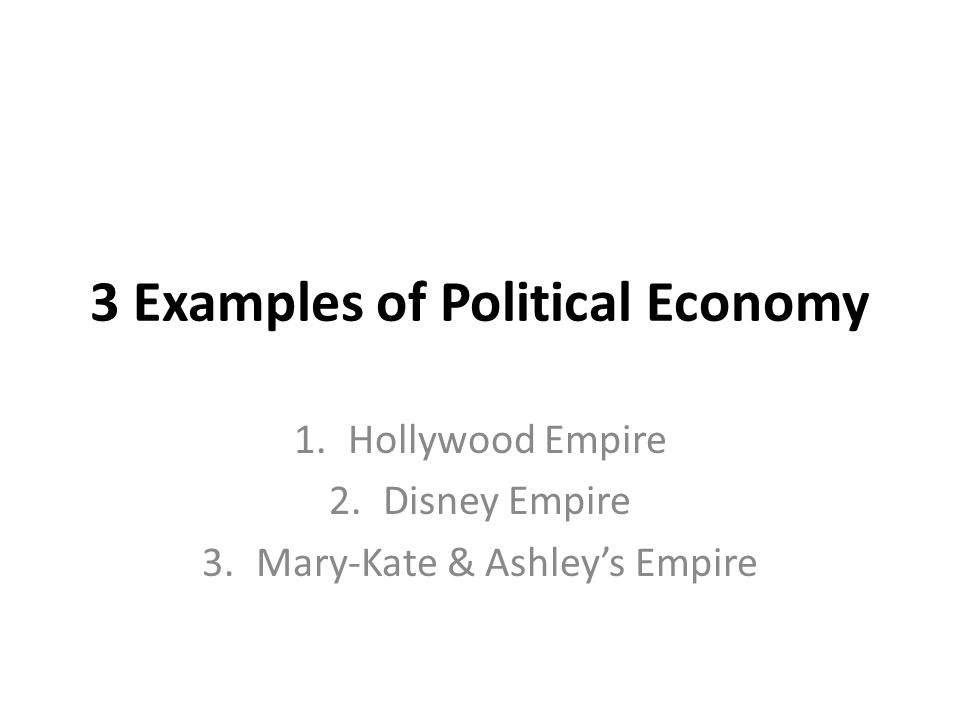 example of political economy