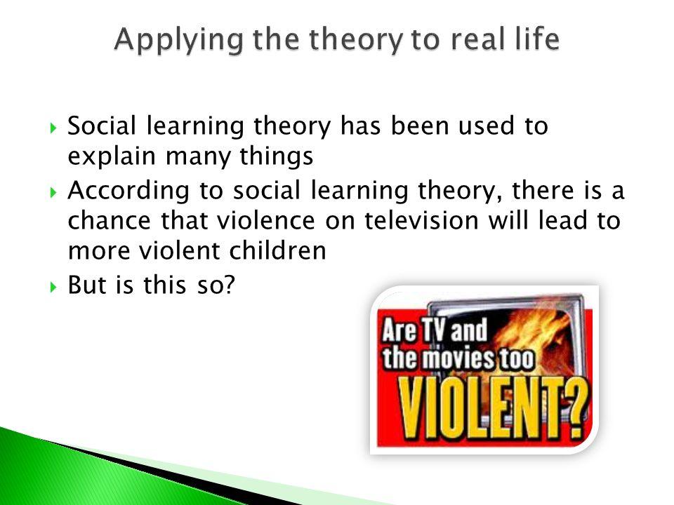social learning theory media violence