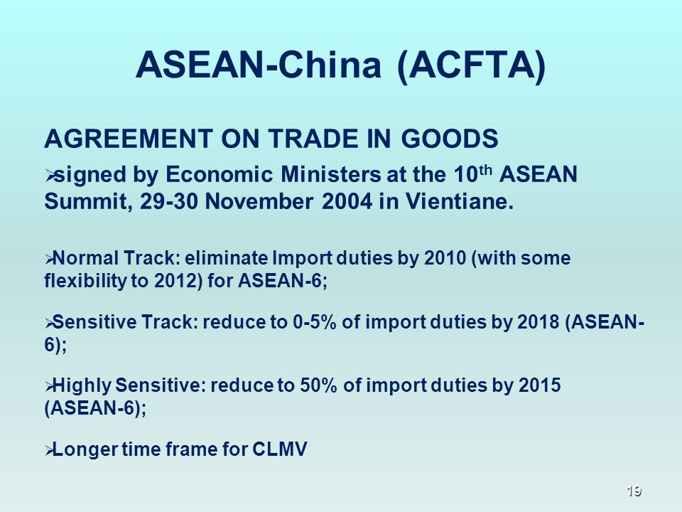 1 Asean Free Trade Area Afta A General Overview Jakarta 10 March