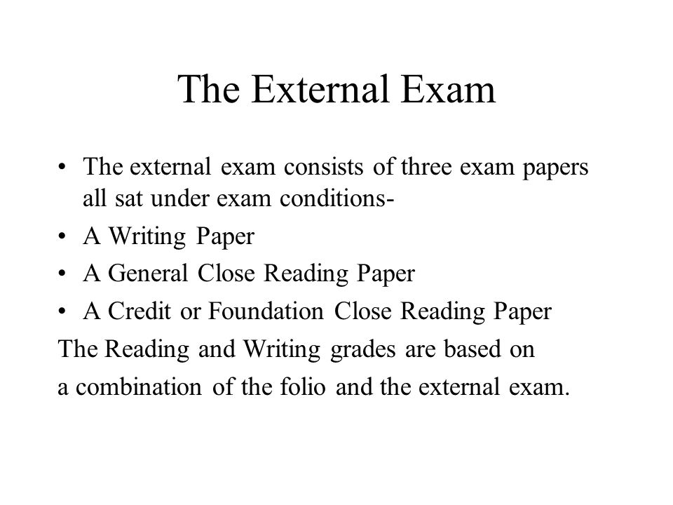 Standard Grade English Course Summary Grades will be awarded for