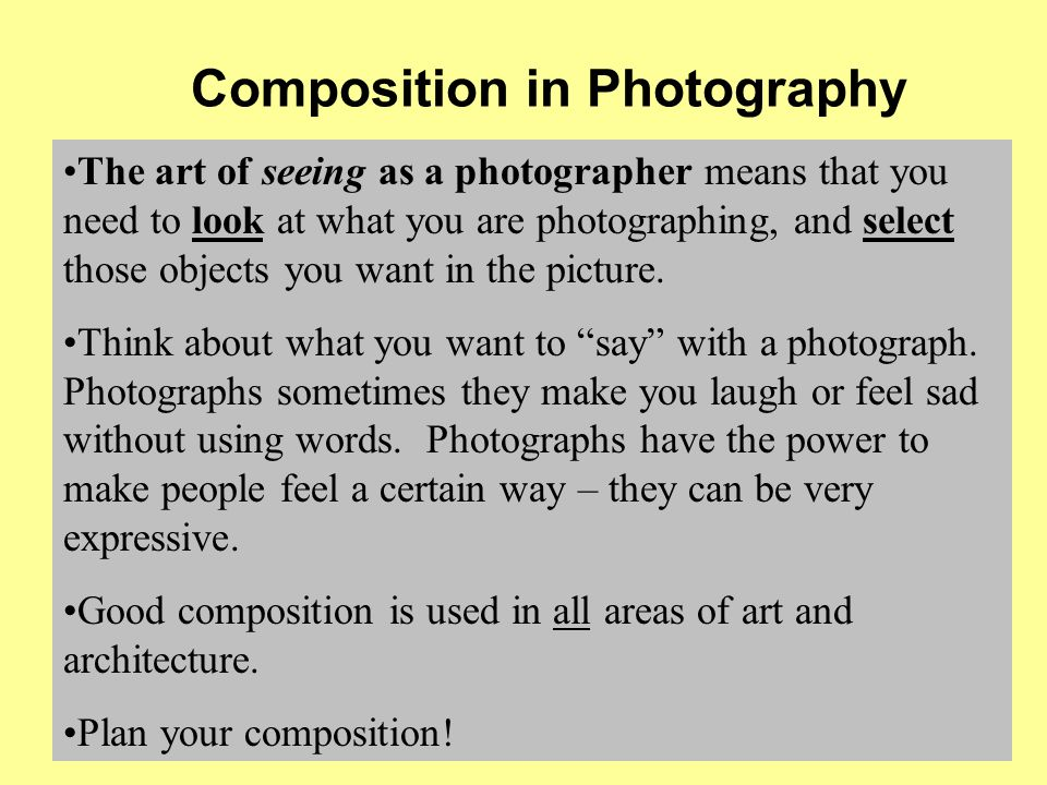 Six Guidelines for Good Composition Vocabulary: Composition ...