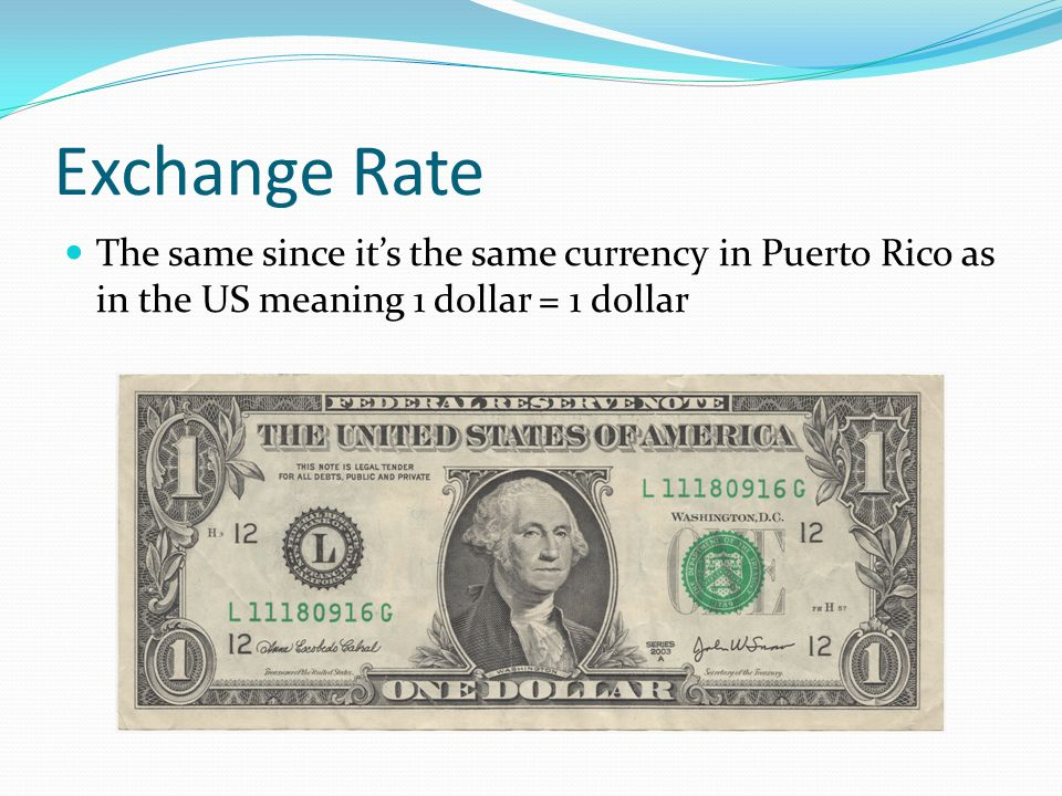 Currency In Puerto Rico