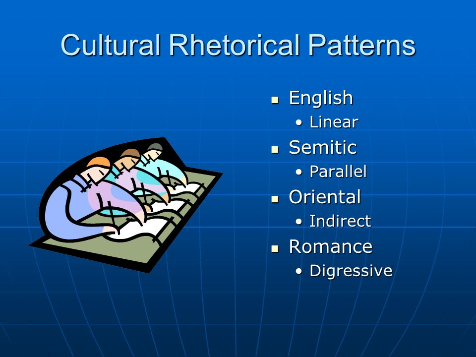 rhetorical patterns in english