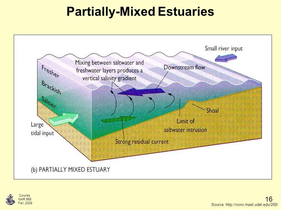 Cowles Mar 555 Fall Week 14 Estuaries Introductory Physical