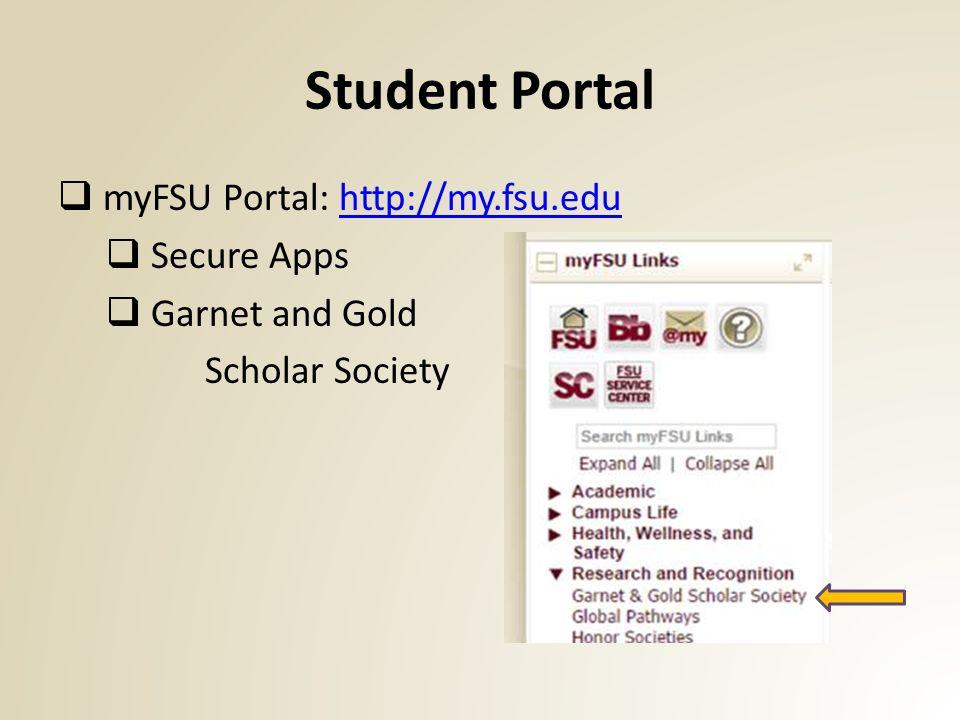 FSU Career Center career fsu edu Garnet and Gold Scholar
