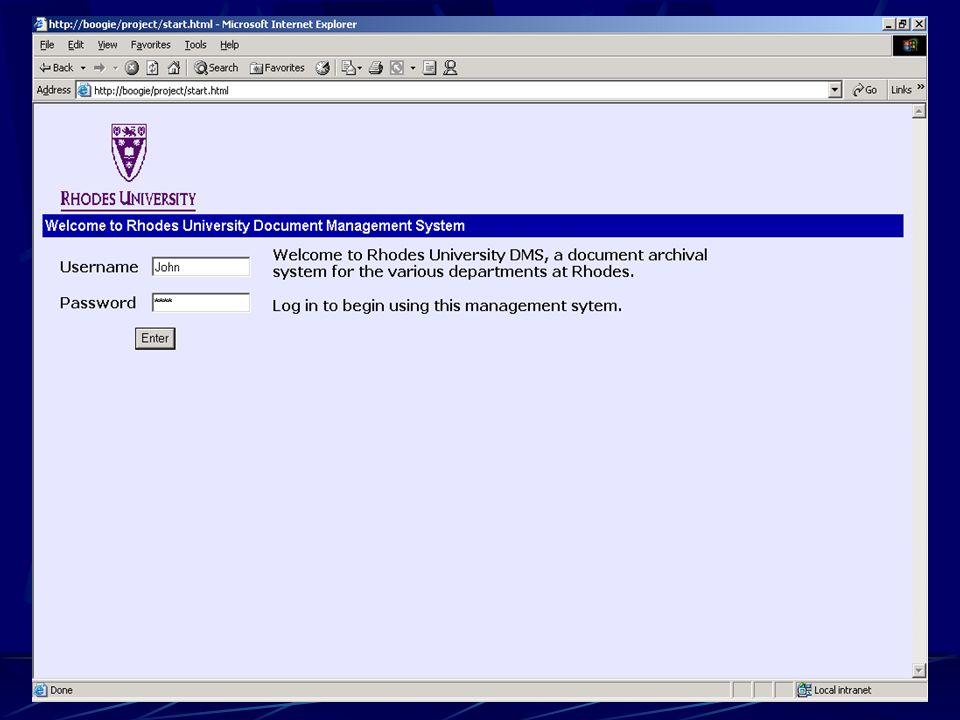Document Management System for Rhodes University Supervisor