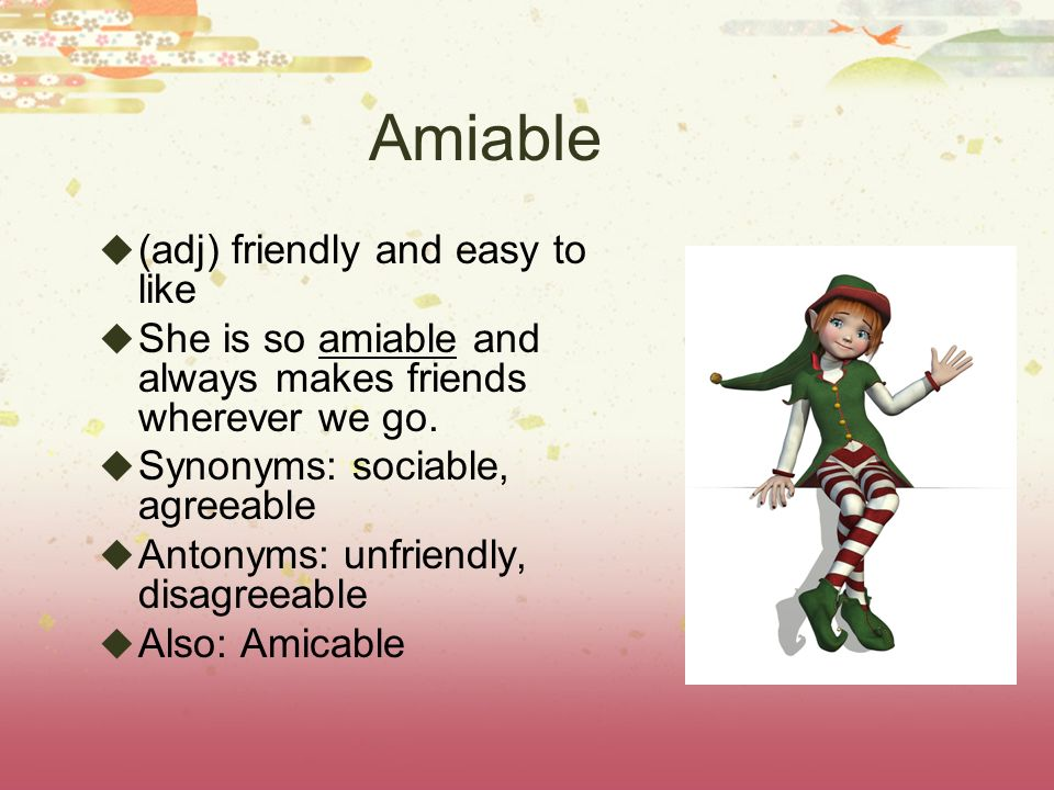 3 rd 6 Weeks Terms – Part 2  Amiable  Gratis