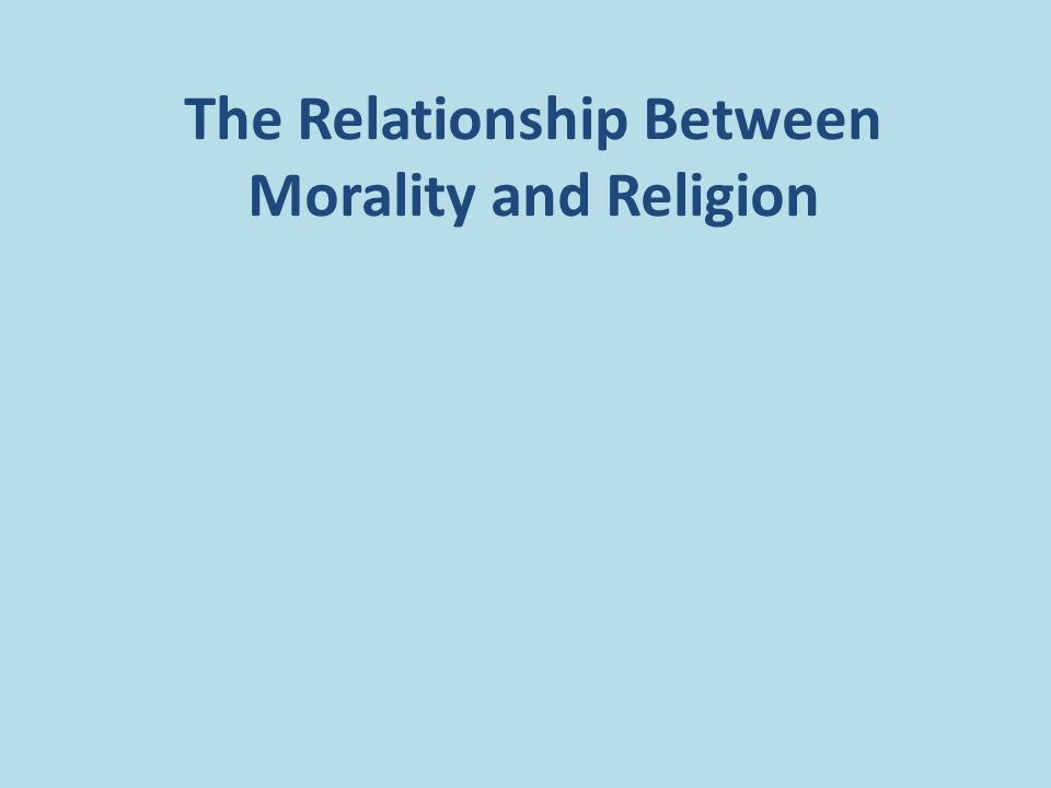 relationship between morality and religion
