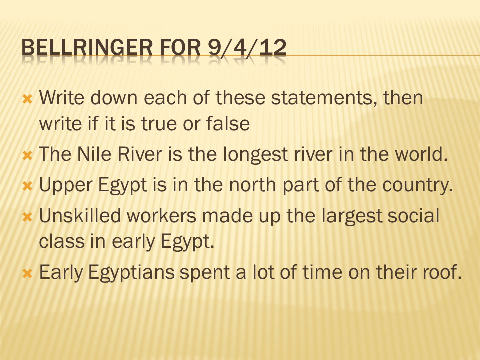 which of these statements is correct about the nile river