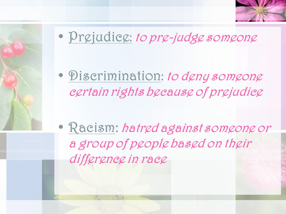 themes about discrimination