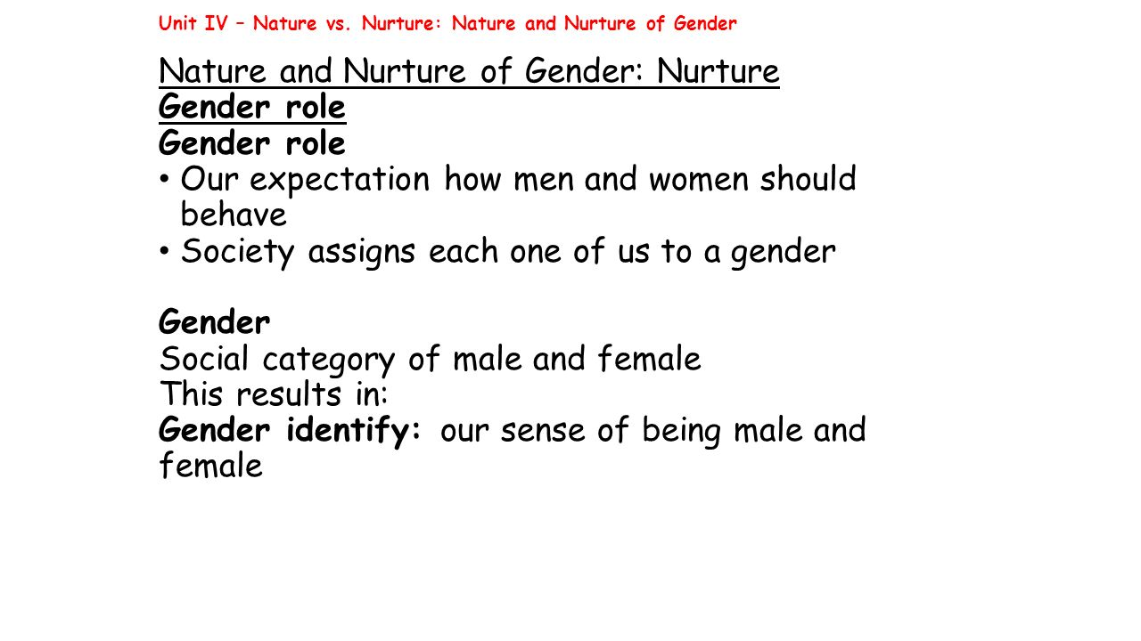 an analysis of the concept of nature versus nurture influenced on macbeth Although scientists have made clear their interactive relationship (eg, moore, 2001), we suspect that, given the cognitive complexity of the concept of interaction and the longstanding dominance of the nature versus nurture model in popular accounts (eg, booth, 1990), genetic and environmental causes will be seen in opposition.