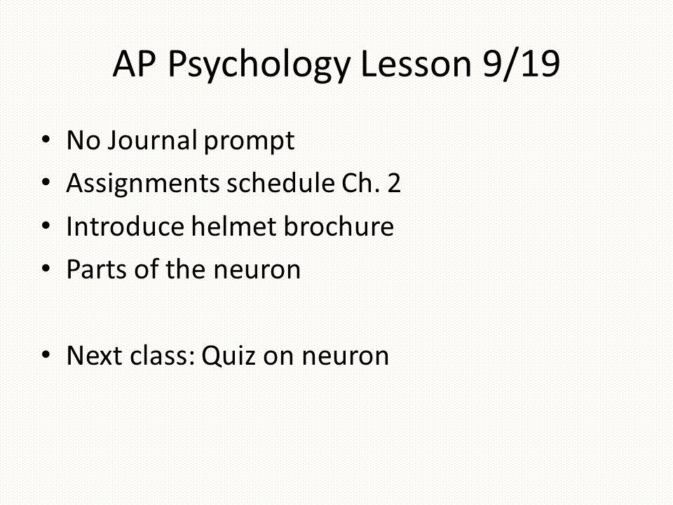 AP Psychology Chapter 2 Biological Bases Of Behavior Ppt