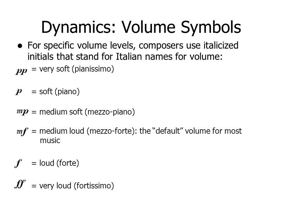 Reading Music Dynamics Articulations Mr Test Music Appreciation