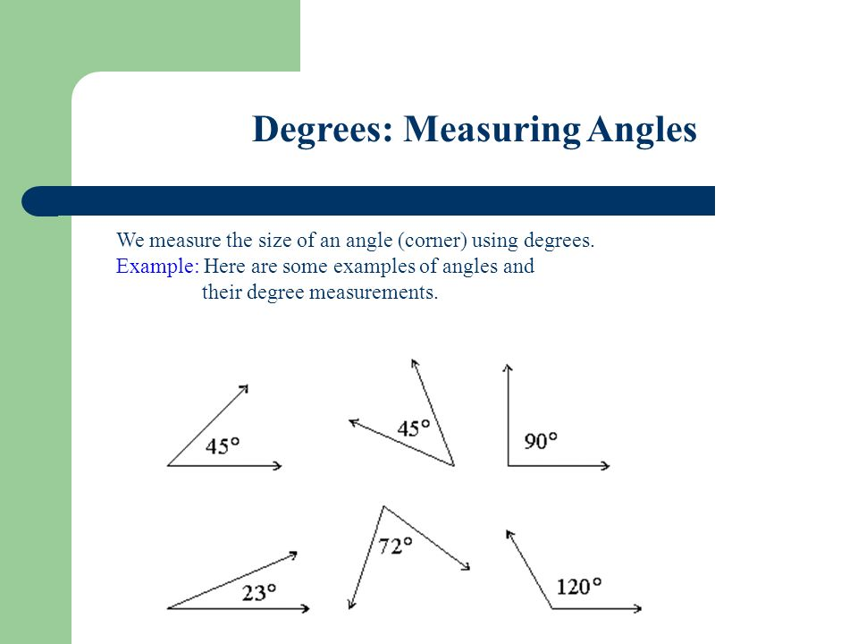 Today we will define right angles, obtuse angles, and acute
