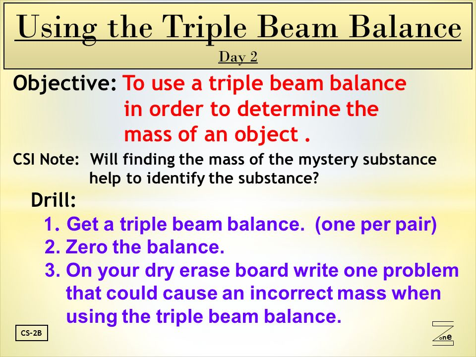 finding mass with a balance
