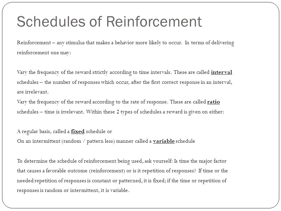 random intermittent reinforcement