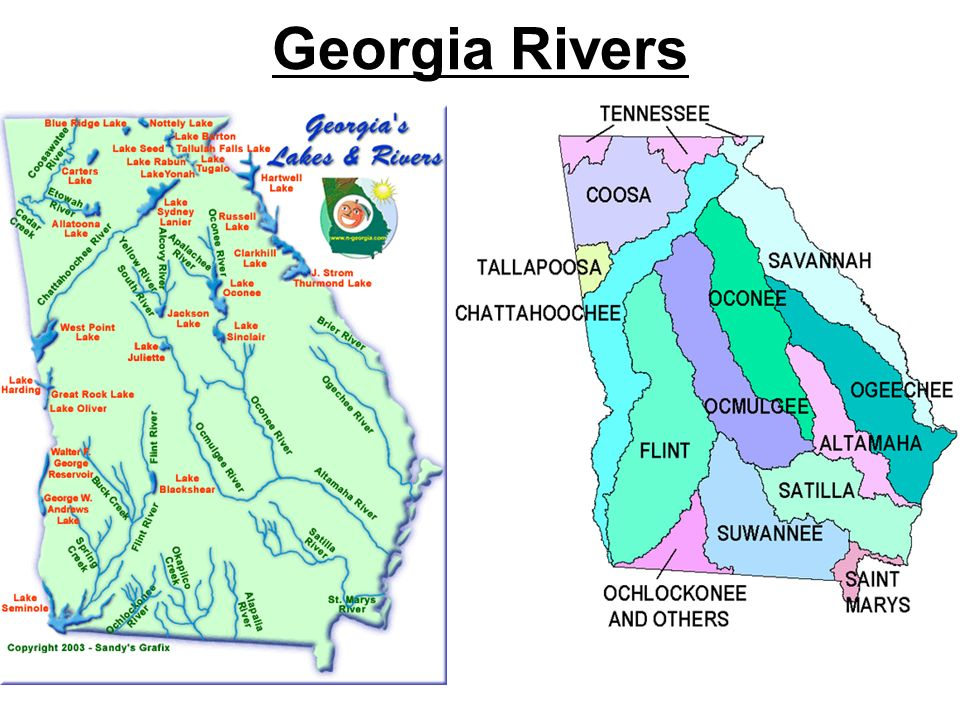 Map Of Georgia Lakes And Rivers.Too Little Water Georgia Rivers Watershed Chattahoochee Watershed