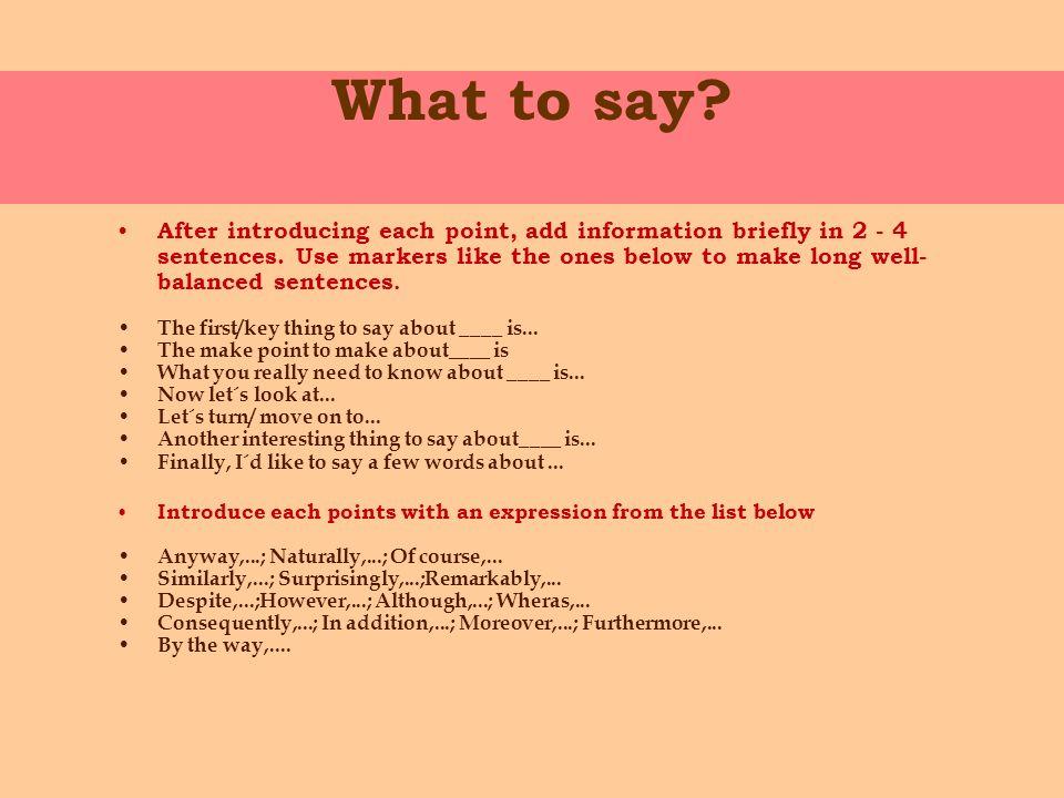 presentation starting sentences