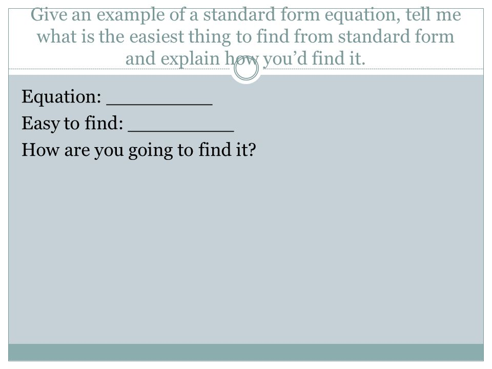 Module 2 Review Put Each Equation Into Factored Form 1 Y X 2