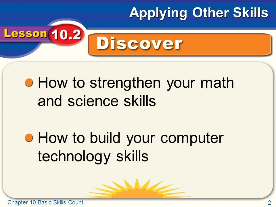 Chapter 10 Basic Skills Count Chapter 10 Basic Skills Count Lesson ...